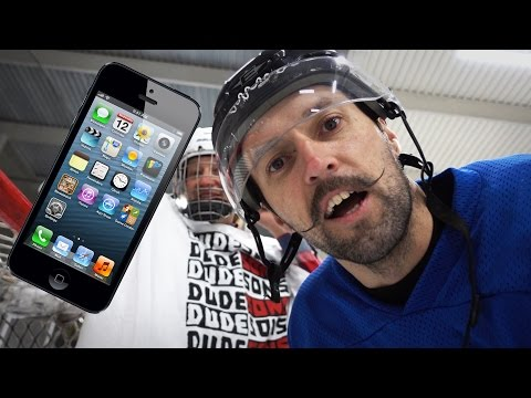 HOCKEY WITH AN iPHONE CHALLENGE!