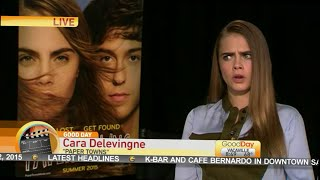 Cara Delevingne Talks About Paper Towns