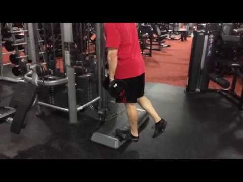 Dumbbell Single Leg Reverse Calf Raise
