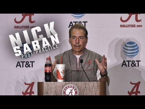 Watch Nick Saban address the media following fall practice.