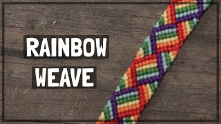 Rainbow Weave Friendship Bracelet Tutorial