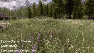Skyrim SE - Grass Mods: A Detailed Showcase And Comparison - Verdant - Veydosebrom - Viscous Foliage