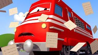 Поезд Трой -  МУСОРОВОЗ Гари наводит порядок! - Автомобильный Город 🚄 детский мультфильм