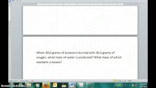 Limiting Reagent (Part #2)
