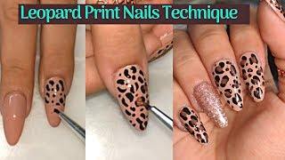 Leopard Print Nails With Gel Polish 💅 Leopard Nail Art Tutorial ❤
