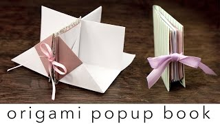 Origami Popup Book Tutorial - DIY - Paper Kawaii