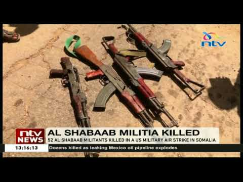 52 Al Shabaab militants killed in a US military airstrike in Somalia