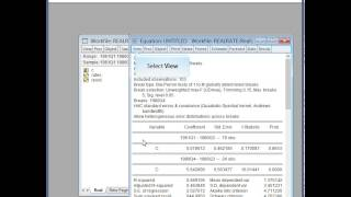 Breakpoint Regression In EViews 8