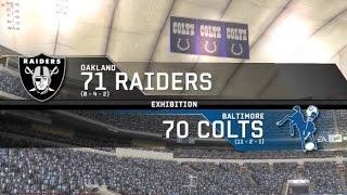 1971 Oakland Raiders vs 1970 Baltimore Colts