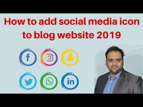 How to add social media icon to blog website 2019