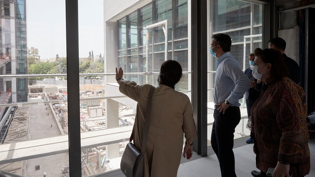 Επίσκεψη του Πρωθυπουργού Κ. Μητσοτάκη στα έργα για τις νέες εγκαταστάσεις της Εθνικής Πινακοθήκης