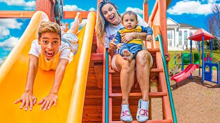 TRANSFORMING Our BACKYARD Into a BIG PLAYGROUND!! | The Royalty Family
