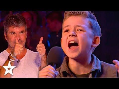 KID SINGER Calum Courtney Gets Standing Ovation on Britain's Got Talent 2018   Got Talent Global