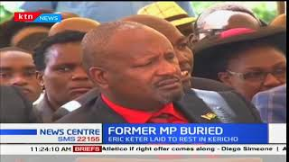 Deputy President, William Ruto attends the late Erick Keter's burial ceremony