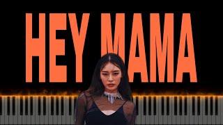 스우파 😈David Guetta - Hey Mama ft Nicki Minaj😈 피아노 커버