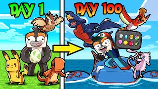 I Played 100 DAYS in MINECRAFT PIXELMON! (Pokemon)