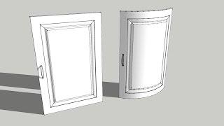 Sketchup tutorial easy Shape bender tool - bending doors