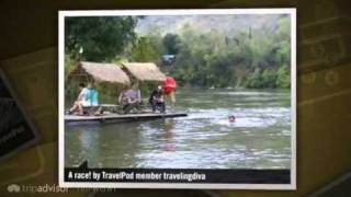 preview picture of video 'Bathing elephants Travelingdiva's photos around Kanchanaburi, Thailand (kanchanaburi elephants)'