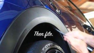 How To Trim MINI Cooper Plastic Fender