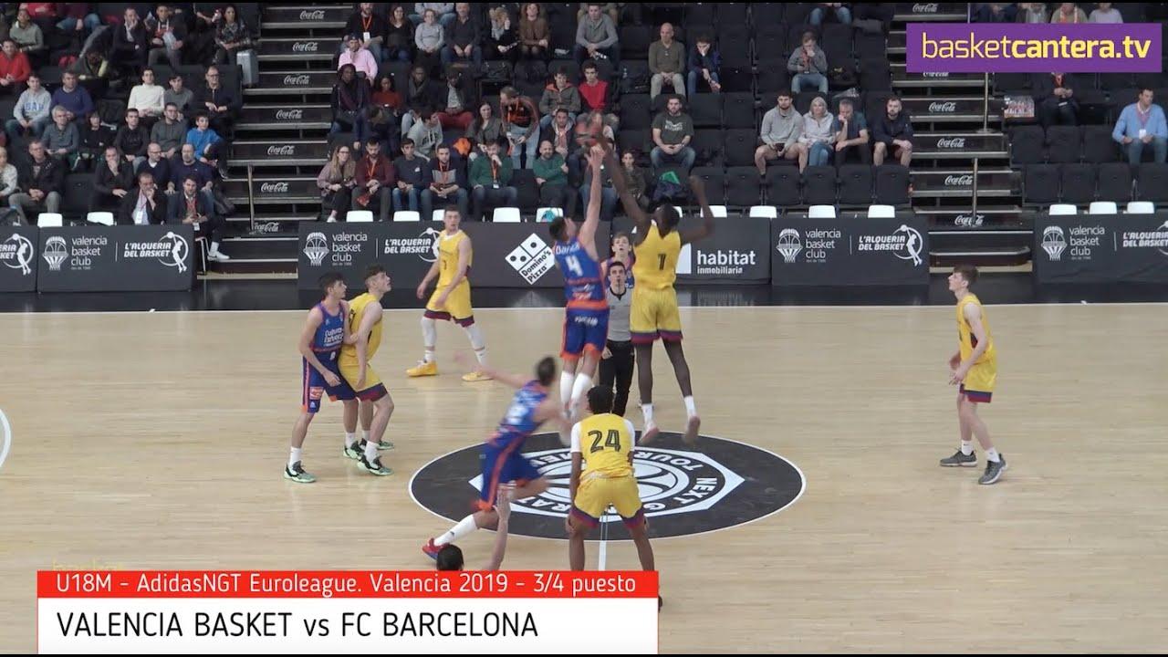 U18M - VALENCIA BASKET vs FC BARCELONA.- AdidasNGT Euroliga. Valencia 2019 (BasketCantera.TV)