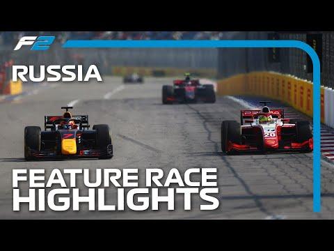 F2 ロシアGP 決勝レースのハイライト動画