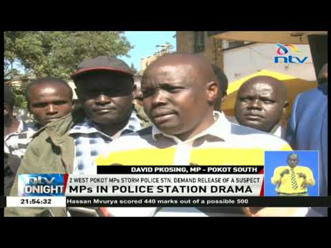 Two West Pokot MPs storm Eldoret police station demanding the release of a murder suspect