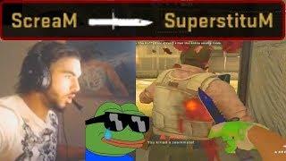 ScreaM Plays MM with SuperstituM (CS:GO)