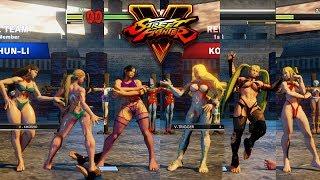 Street Fighter V AE Laura/Cammy/Chun Li Vs Kolin/R. Mika/Karin PC Mod