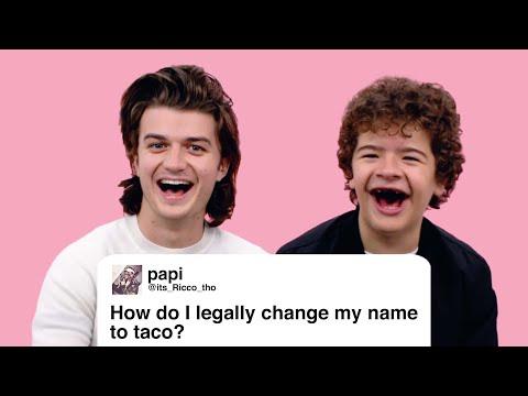 Stranger Things' Joe & Gaten Give Advice to Strangers on the Internet   Glamour