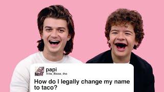 Stranger Things' Joe & Gaten Give Advice to Strangers on the Internet | Glamour - dooclip.me