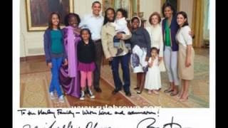 "RASTAFARI in the White House with the OBAMA's. Ziggy Marley & Rita Marley. RULA BROWN -""Montego Bay"""