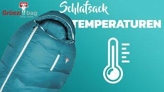 Temperaturangaben bei Schlafsäcken - Schulungsvideo von Grüezi bag