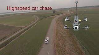 Race drone 7km high speed car chase
