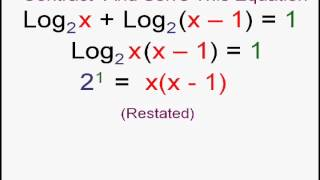 Advanced Logarithm Equations