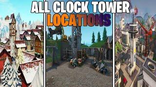 Visit Different Clocks Challenge: Fortnite Season 9 WEEK 8 (ALL LOCATIONS)