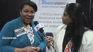 Ms.Stephanie Franco from Women Entrepreneur Resource & Educational community speaking to iAsiaNews.