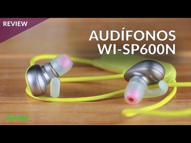 Sony WI-SP600N: CANCELACIÓN de RUIDO en AUDÍFONOS bluetooth en México