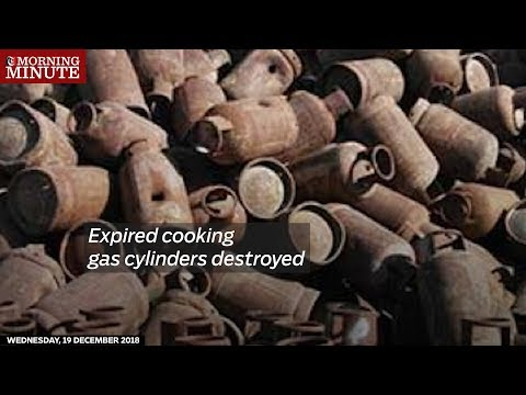 Expired cooking gas cylinders destroyed