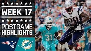 Patriots vs. Dolphins | NFL Week 17 Game Highlights