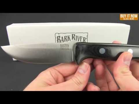"Bark River Knives Bravo 2 Black Canvas Micarta Fixed Blade Knife (7"" Plain)"
