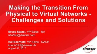 Intel Webinar - Making the Transition from Physical to Virtual Networks