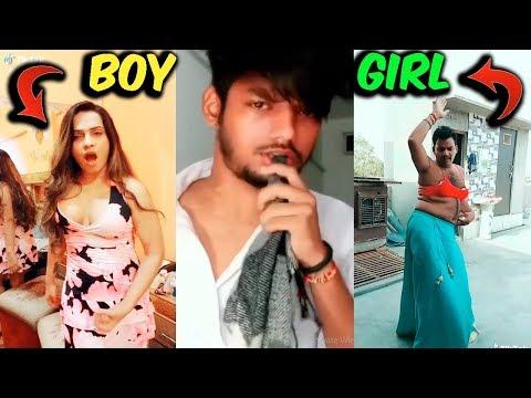 TERA DIL JAB KOI BHI DUKHAYEGA Boys Vs Girls Version   Sanket singh Tik Tok   MR AJ