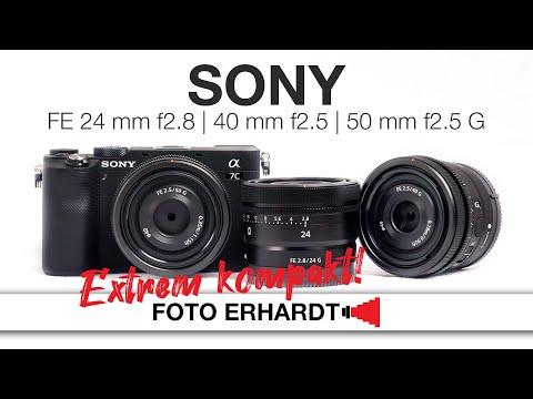 Ultra kompakt: Sony FE 24 mm F2.8, 40 mm F2.5 und 50 mm F2.5 G