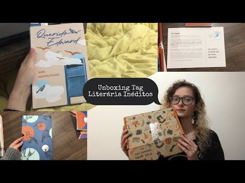 Unboxing Tag Literária Inéditos - Agosto