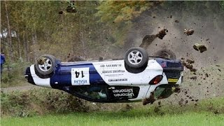 Аварии на ралли в Финляндии #4 (Подборка аварий на раллийных авто гонках)