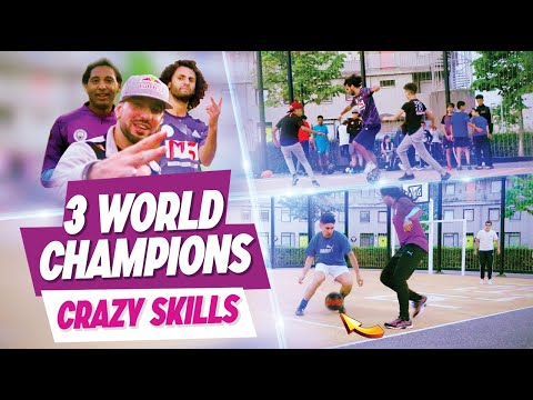 CRAZY SKILLS ! 3 World champion playing street football together