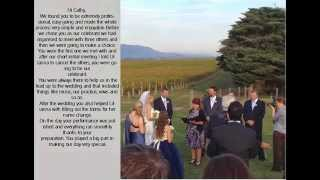 Marriage Celebrant Cathlyn Woollard Wedding Recommendations