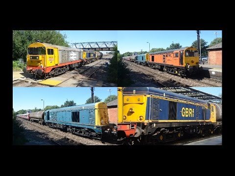 Colourful Class 20's at Melton Mowbray 12th August 2016