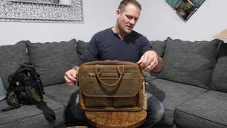 Kattee Mens Leather Durable Briefcase, 16 Laptop Bag | Unboxing 💼