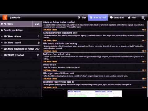 Video of JustReader News - RSS